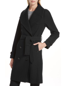 nwt-burberry-cranston-wool-blend-black-trench-coat-sz-4 by burberry