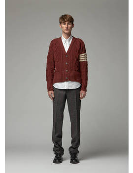 donegal-aran-cable-cardigan by thom-browne