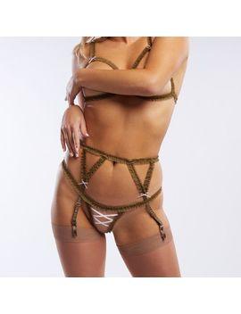 Chiffon Ruffle Garter Belt by Savage X Fenty