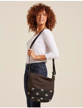 Tia Woven Star Cross Body Bag by Fat Face