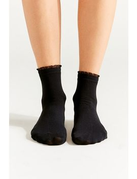 mini-ruffle-ribbed-crew-sock by urban-outfitters