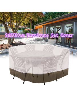 """bestller-94""""-large-round-veranda-patio-set-cover-table-&-chair-outdoor-garden-furniture-black-friday-clearance by bestller"""