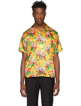 Yellow Weed Hibiscus Hawaiian Shirt by Yellow Weed Hibiscus Hawaiian Shirt