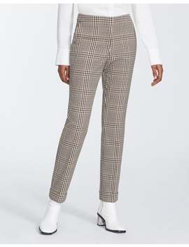 Heritage Plaid Cuffed Clinton Pant by Lafayette 148 New York