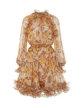 ruffled-floral-print-silk-chiffon-mini-dress by zimmermann