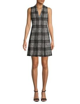 plaid-pleated-dress by vince-camuto