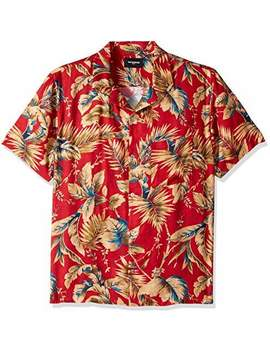 Men's Men's Hawaiian Print Short Sleeve Button Down Shirt by Men's Men's Hawaiian Print Short Sleeve Button Down Shirt