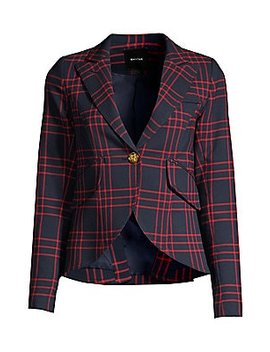 one-button-check-blazer by smythe