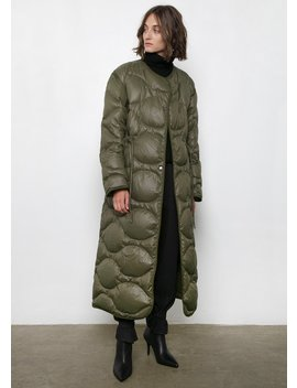 army-green-quilted-long-puffy-coat by the-frankie-shop