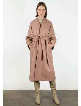 collarless-wrap-coat-in-mauve by the-frankie-shop