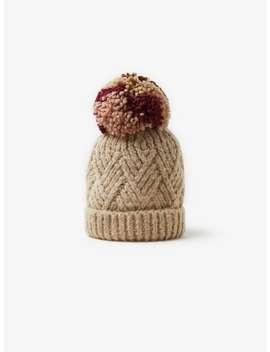 knit-hat-with-oversized-pompom by zara