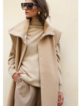 sleeveless-funnel-neck-jacket-in-camel-by-ter-et-bantine by the-frankie-shop