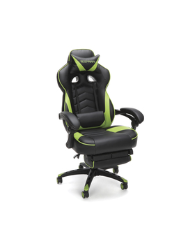 respawn-110-racing-style-gaming-chair,-reclining-ergonomic-leather-chair-with-footrest,-in-blue-(rsp-110-blu) by respawn