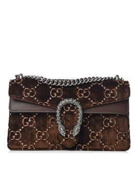 gucci-gg-monogram-velvet-small-dionysus-brown by gucci