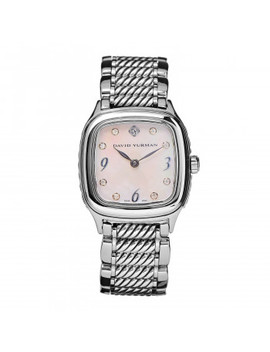 david-yurman-stainless-steel-sterling-silver-diamond-mother-of-pearl-25mm-thoroughbred-quartz-watch by david-yurman
