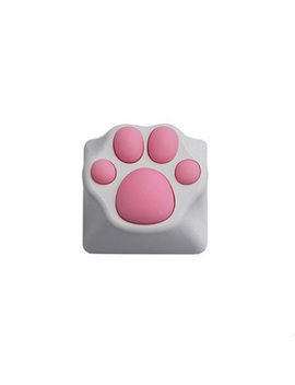 Cat Claw Keycap Pbt The Cherry Blossom Keycap For Mechanical Keyboard Pink Black   White&Pink by Banggood