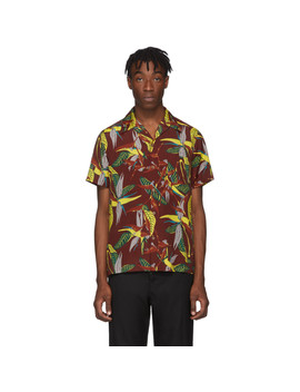 burgundy-type-1-hawaiian-shirt by wacko-maria