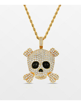 """the-gold-gods-skull-22""""-rope-chain-yellow-gold-necklace by the-gold-gods"""
