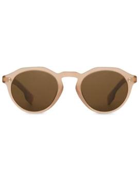 keyhole-round-frame-sunglasses by burberry-eyewear