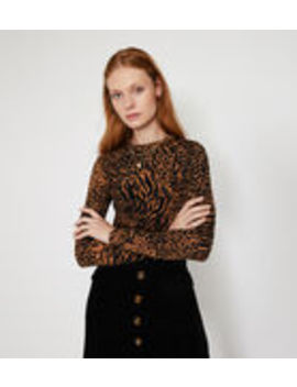 Mixed Animal Print Crew Neck by Warehouse