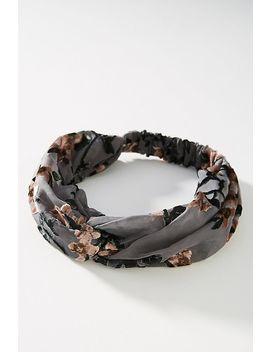 jeannie-burnout-velvet-twist-headband by anthropologie