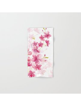 cherry-blossom-hand-&-bath-towel by society6