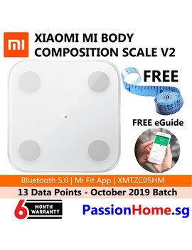 Preferred Xiaomi Mi Body Composition Weighing Scale 2   V2 Bluetooth 5.0 October 2019 Version   Smart Body Fat Weight White by Shopee