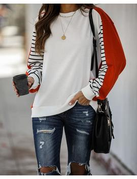 so-very-thankful-cotton-contrast-striped-pullover by vici