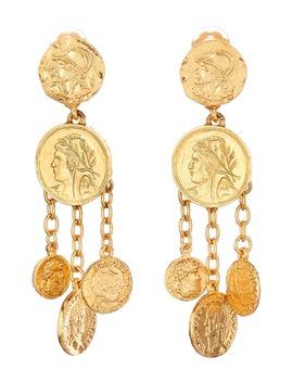 coin-chandelier-clip-on-earrings by oscar-de-la-renta