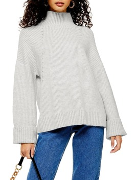 supersoft-wide-sleeve-turtleneck-sweater by topshop