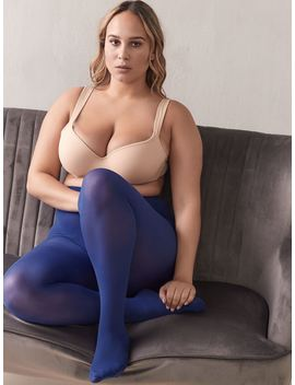 40 D Microfiber Tights With Sewn In Panel   Mondor by Penningtons