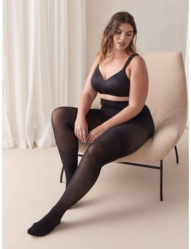 Basic Cotton Tights With Sewn In Panel   Mondor by Penningtons