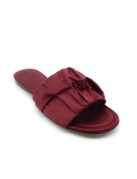 burgundy-satin-slide-sandals by the-row
