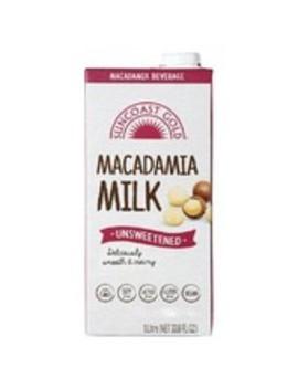 Gold Macadamia Unsweetened Long Life Milk 1 L by Suncoast