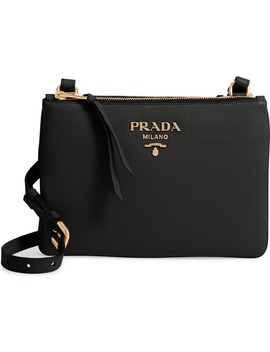vitello-daino-double-compartment-leather-crossbody-bag by prada