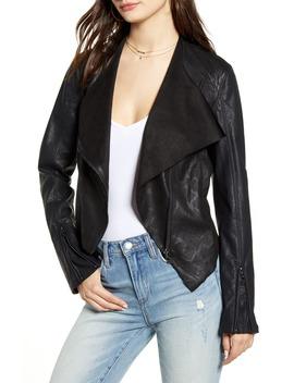 drape-front-faux-snakeskin-jacket by blanknyc