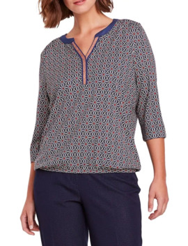 modern-folk-printed-cotton-blend-top by olsen