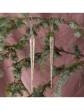 Glass Icicle Ornament Set by Terrain