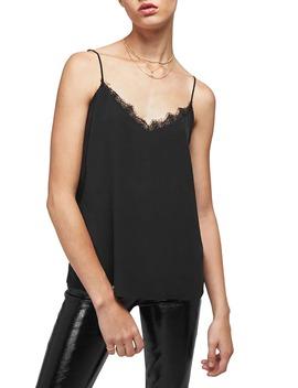 lace-trim-silk-camisole by anine-bing