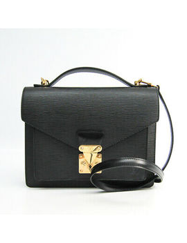 Louis Vuitton Epi Monceau M52122 Handbag Noir Bf500464 by Louis Vuitton