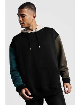 oversized-oth-hoodie-in-colour-block by boohoo