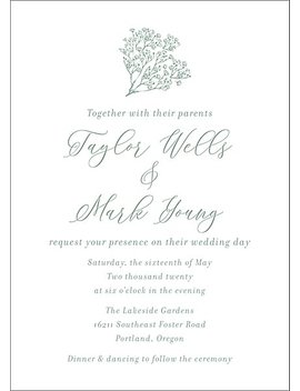 Baby's Breath Wedding Invitation by Paper Source