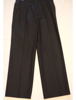undercover-wide-fit-black-wool-trousers by undercover  ×