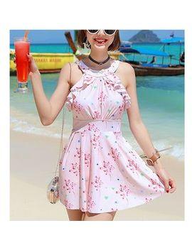 summer-siren---flower-print-swim-dress by summer-siren