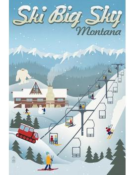 Big Sky, Montana   Retro Ski Resort by All Posters