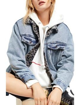 wild-ones-faux-shearling-lined-denim-trucker-jacket by free-people