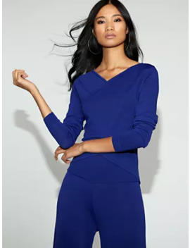 Blue Wrap Sweater   Gabrielle Union Collection by New York & Company
