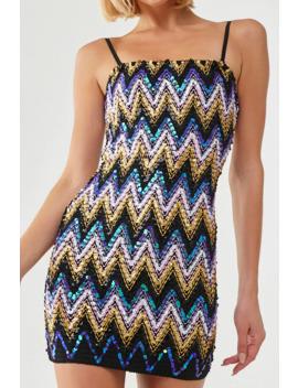 sequin-chevron-mini-dress by forever-21