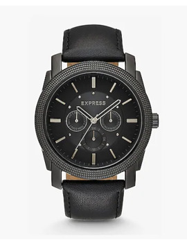 leather-strap-multi-function-watch by express