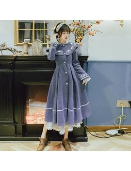 nebbia---long-sleeve-embroidered-midi-a-line-coat-dress by nebbia